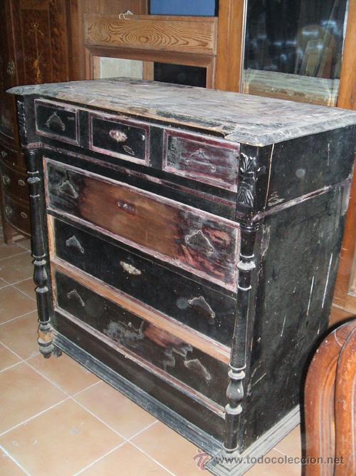 C moda alfonsina con columnas en madera de noga comprar for Antiguedades para restaurar