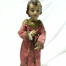 Antigüedades: NIÑO JESUS VESTIDO. Lote 24407307