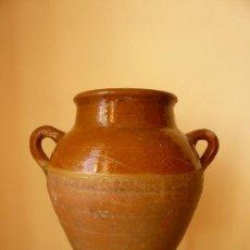 Antigüedades: ORZA O VASIJA DE CERAMICA POPULAR CATALANA. Lote 24410167