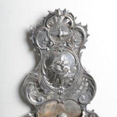 Antigüedades: BENDITERA DE PLATA, S.XIX. Lote 24415812
