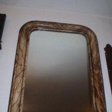 Antigüedades: ESPEJO MARMOLEADO S XIX MADERA. Lote 24427237