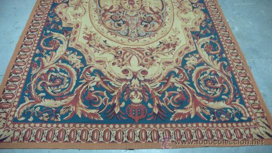 Antigüedades: Alfombra Aubusson tejida manualmente. Siglo XX. Lana 100% - Foto 2 - 27485881