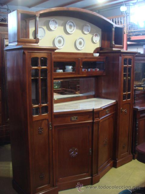Anatiguo mueble aparador vitrinas en madera de comprar - Muebles antiguos restaurados ...