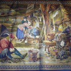 Antigüedades: TAPIZ MANUAL EN LANA Y SEDA. SIGLO XX. SEGÚN DIBUJO DE TENIERS. Lote 27485877