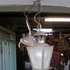Antigüedades: FAROL ANTIGUO DE METAL PEQUEÑO. Lote 24460759