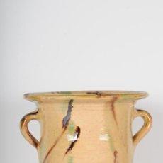 Antigüedades: BACIN ESMALTADO EN CERÁMICA POPULAR, S.XIX. Lote 24460944