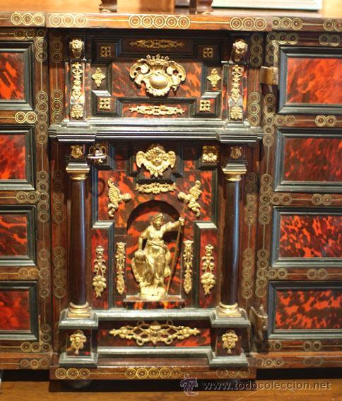 Antigüedades: Bargueño papelera hispano-flamenca, época Carlos II ffs S XVII. - Foto 2 - 39281918