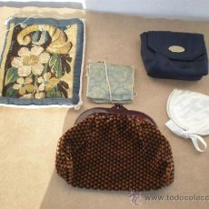 Antigüedades: 5 BOLSOS Y MONEDEROS DE SEÑORAS. Lote 24491864