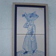 Antigüedades: AZULEJOS PINTADO A MANO Y FIRMADO. Lote 24517990
