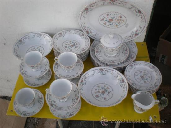 Antigüedades: vajilla a juego de porcelana firmada - Foto 2 - 24545671