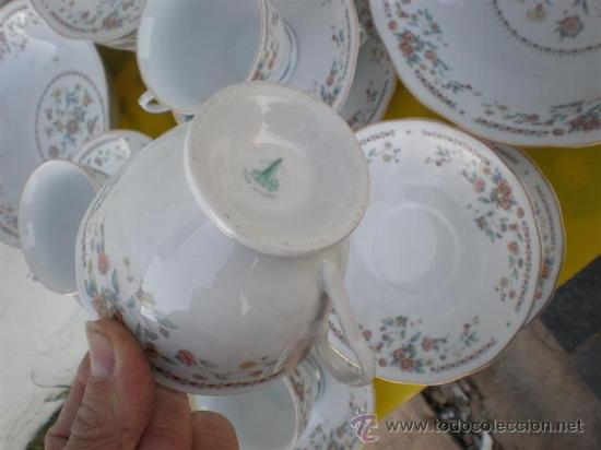 Antigüedades: vajilla a juego de porcelana firmada - Foto 3 - 24545671