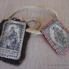 Antigüedades: ESCAPULARIO ANTIGUO. VIRGEN DEL CARMEN. Lote 26237837