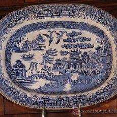 Antigüedades: ANTIGUA BANDEJA FUENTE DISEÑO CANTON XIX - . Lote 24556443
