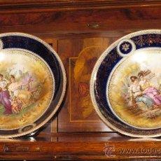 Antigüedades: ANTIGUA PRECIOSA PAREJA FRUTEROS VIENNE - VER FOTOS. Lote 24648530