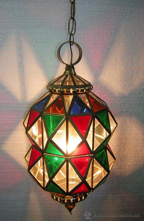 lampara estilo granadino cristales de colores m Comprar Lmparas