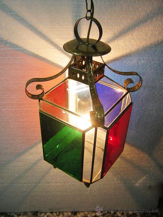 lampara estilo granadino cristales de colores m - Comprar Lámparas ...