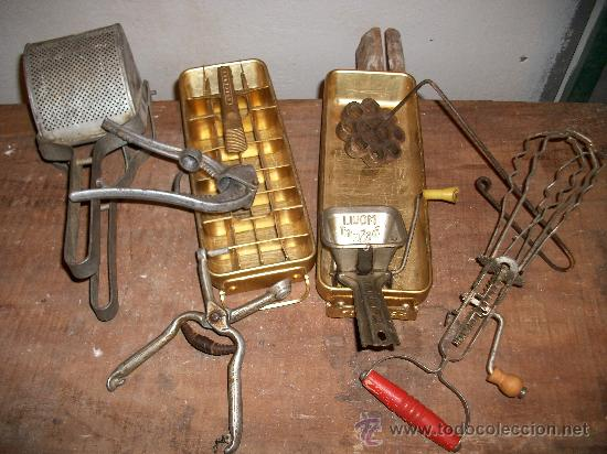 Lote utensilios de cocina antiguos comprar antig edades for Utensilios antiguos de cocina