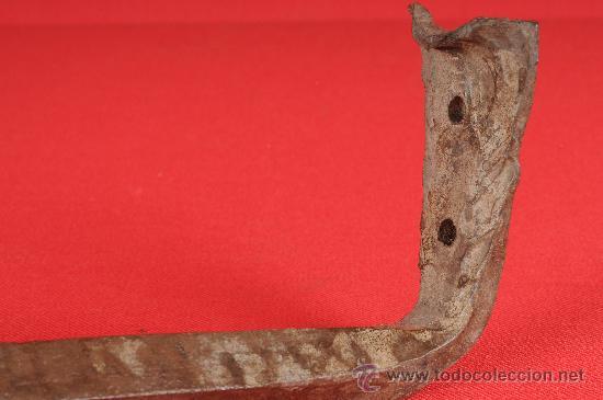 Antigüedades: Palomilla de farol en hierro forjado, hecha a mano, principios S.XIX - Foto 5 - 24601834