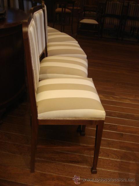 Juego de 6 sillas antiguas en madera de nogal r comprar - Sillas antiguas restauradas ...