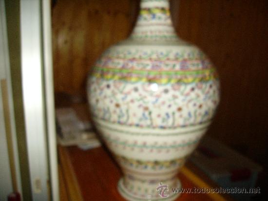 Antigüedades: Magnifica cantaro de ceramica de Puente del Arzobispo , ceramista CRUZ - Foto 6 - 26654987