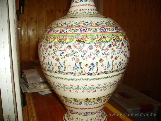 Antigüedades: Magnifica cantaro de ceramica de Puente del Arzobispo , ceramista CRUZ - Foto 7 - 26654987
