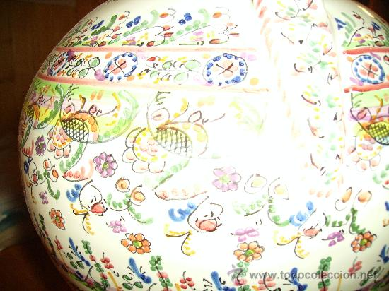 Antigüedades: Magnifica cantaro de ceramica de Puente del Arzobispo , ceramista CRUZ - Foto 10 - 26654987