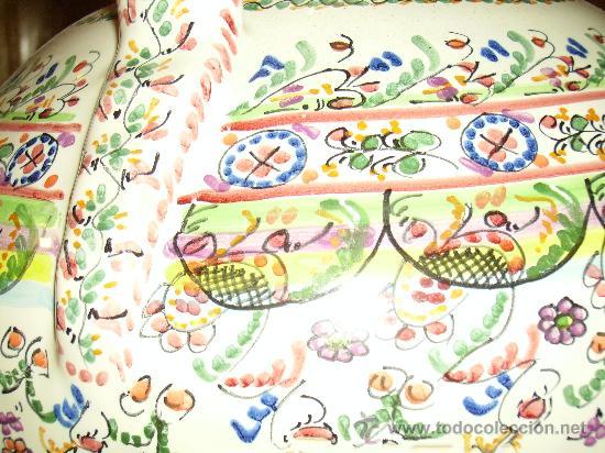 Antigüedades: Magnifica cantaro de ceramica de Puente del Arzobispo , ceramista CRUZ - Foto 11 - 26654987