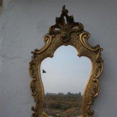 Antigüedades: ESPEJO DE MADERA DORADA. Lote 24626372
