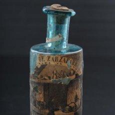 Antigüedades: EXCELENTE BOTELLA DE VIDRIO DE FARMACIA DEL DR. FONT Y FERRÉS, BARCELONA S.XIX. Lote 24914573