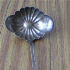 Antigüedades: CAZO DE COCTEL .. DE ALPACA .. MENESES METAL BLA.... Lote 24646431