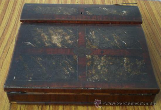 ESCRITORIO DE CAOBA (Antigüedades - Muebles Antiguos - Revisteros Antiguos)