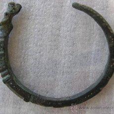 Oggetti Antichi: TRACIA.BRAZALETE EN BRONCE.S.V AC.ANIMAL CON OJOS DE CRISTAL. EXTRAORDINARIA. Lote 25293722
