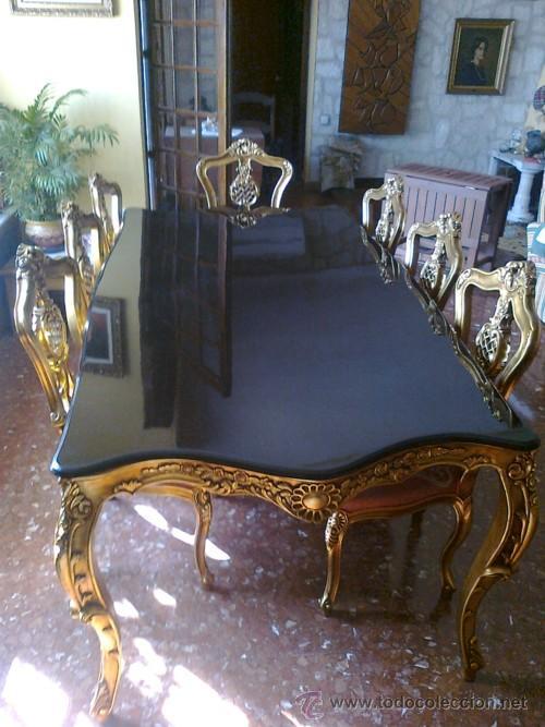 Gran oferta mesa comedor y 10 sillas labradas comprar for Sillas comedor antiguas