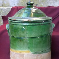 Antigüedades: QUESERA CERAMICA FIRMADA TITO UBEDA ( JAÉN) COCIDA EN HORNO DE LEÑA C.1950. Lote 26420771