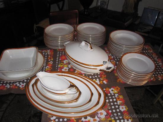VAJILLA DE 56 PIEZAS. ROYAL CHINA-VIGO AÑO 1950. (Antigüedades - Porcelanas y Cerámicas - Otras)