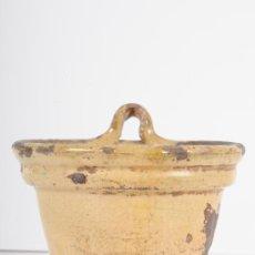 Antigüedades: CUCHARERO EN CERÁMICA ESMALTADA. SIGLO XIX. Lote 12240797