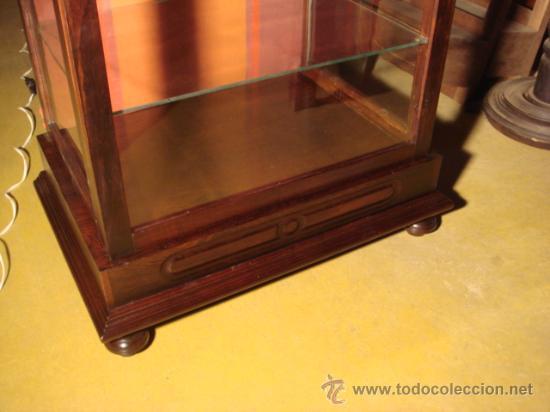 Antigüedades: VITRINA ANTIGUA DE CAOBA Y PALO SANTO- RESTAURADA - Foto 2 - 26907033