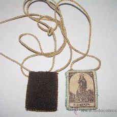 Antigüedades: ANTIGUO ESCAPULARIO DE TELA. Lote 26293931