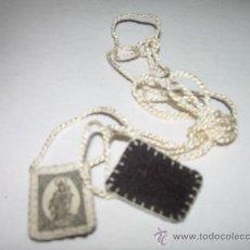 Antigüedades: ANTIGUO ESCAPULARIO DE TELA. Lote 26293919