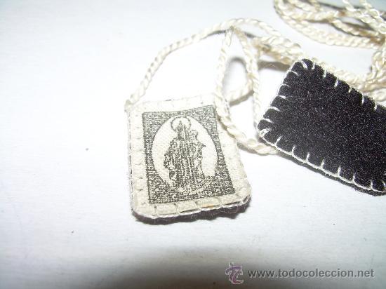 Antigüedades: ANTIGUO ESCAPULARIO DE TELA - Foto 2 - 26293919