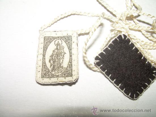 Antigüedades: ANTIGUO ESCAPULARIO DE TELA - Foto 3 - 26293919
