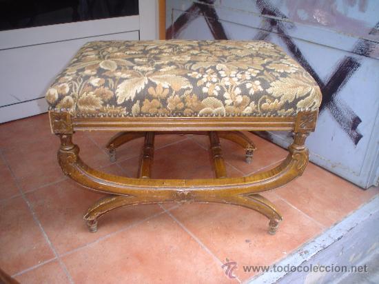 BANQUETA CLÁSICA (Antigüedades - Muebles Antiguos - Sillas Antiguas)