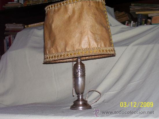 Preciosa alpaca lampara de plateada pie mesa Sold de DW2EIYH9