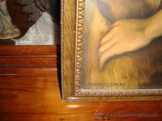 Antigüedades: antigua y preciosa lamina artistica chico de caceria, precioso marco y cristal, ver fotos69 x 58 cm - Foto 5 - 24945253