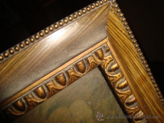 Antigüedades: antigua y preciosa lamina artistica chico de caceria, precioso marco y cristal, ver fotos69 x 58 cm - Foto 2 - 24945253