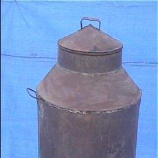Antigüedades: MEDIDA DE ACEITE CHAPA 74X40CM DIAMETRO TIENE UN PAR DE GOLPES. Lote 24976323