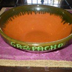 Antigüedades: CUENCO PARA GAZPACHO DE BARRO COCIDO Y VIDRIADO. Lote 24999086
