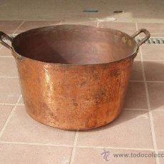Antigüedades: ANTIGUA CALDERA DE COBRE MUY GRUESA Y LIMPIA.. Lote 26518496
