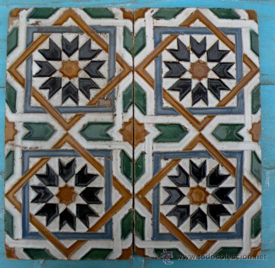 Antigua pareja de azulejos de arista azulejo comprar for Azulejos antiguos sevilla