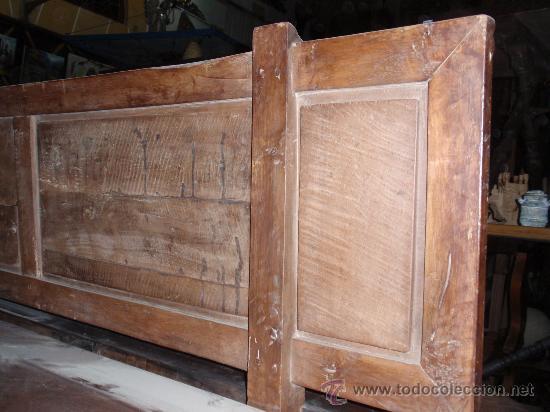 Antigüedades: Mesa de lira castellana de nogal español y con 2 bancos a juego. Medida 310x0.96x cm - Foto 4 - 24026167